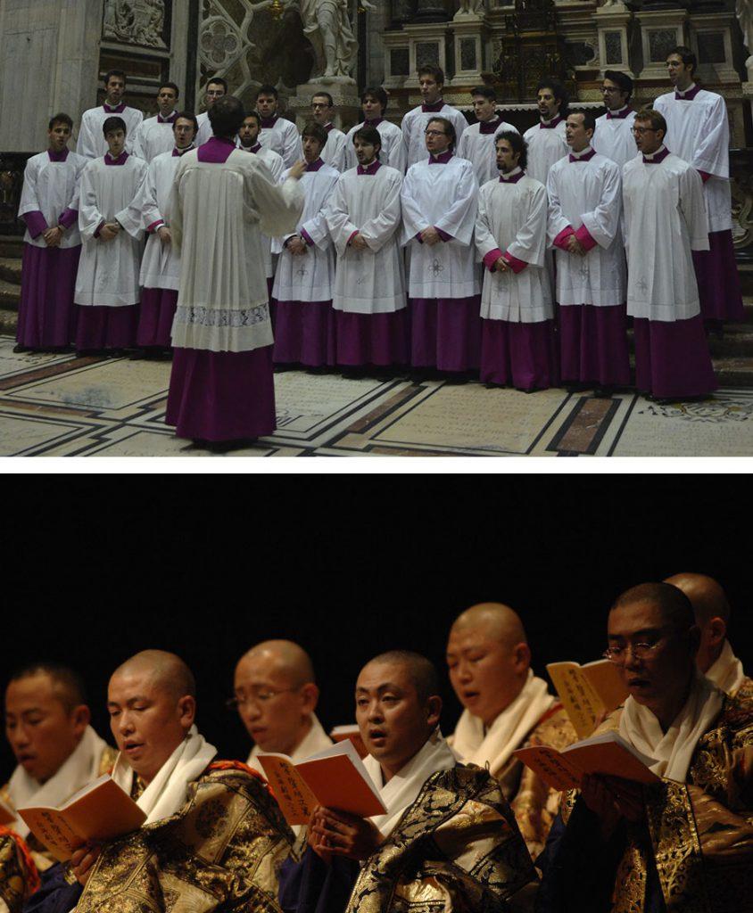 アンブロジオ聖歌と声明による祈りの音楽のイメージ