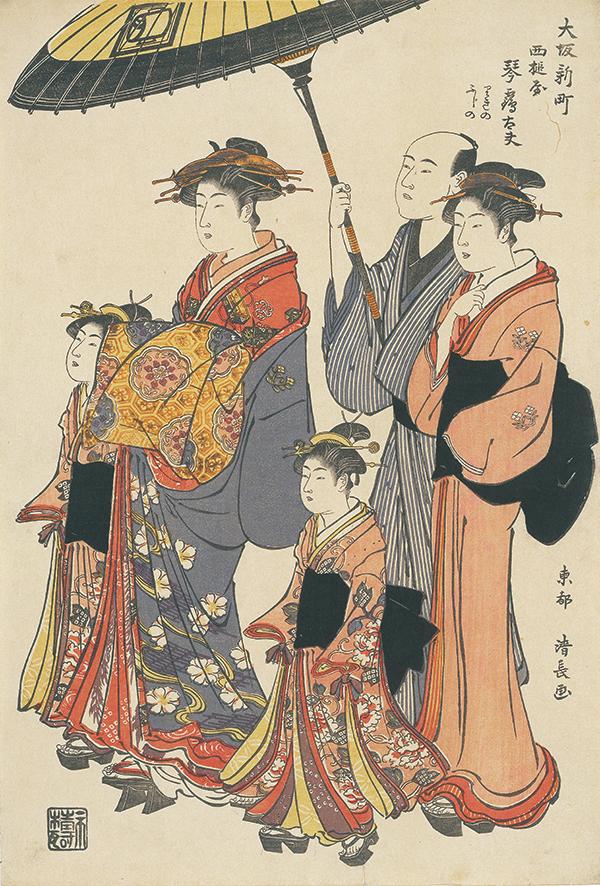 Courtesan Kototsuru of Nishizuchi-ya at Shin-machi in Osakaのイメージ